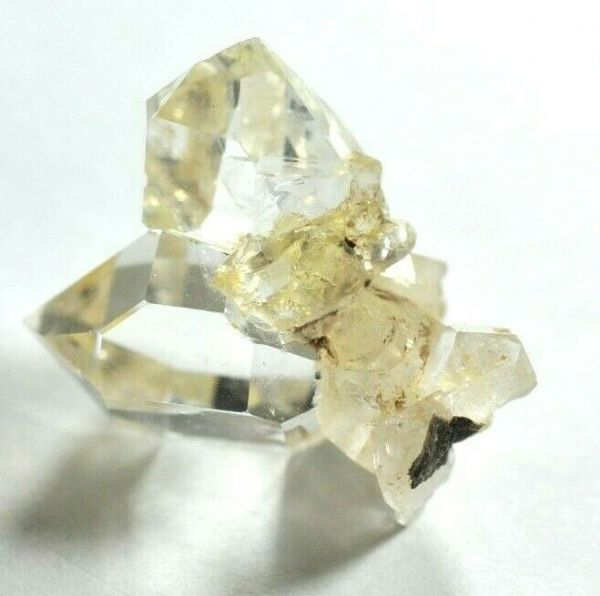 GENUINE HERKIMER DIAMOND CLUSTER - NEW YORK STATE - 2.4 x 2.2 cms 8.50 gms